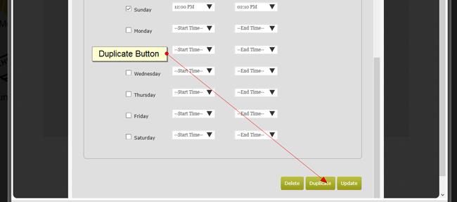 duplicate a class scheduling
